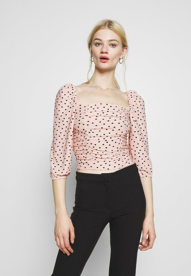 PUFF SLEEVE - T-shirt à manches longues - rose