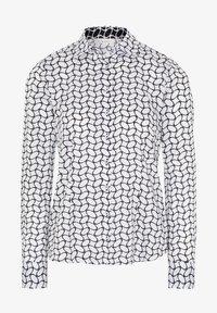 Eterna - FITTED WAIST - Button-down blouse - weiß/schwarz - 3