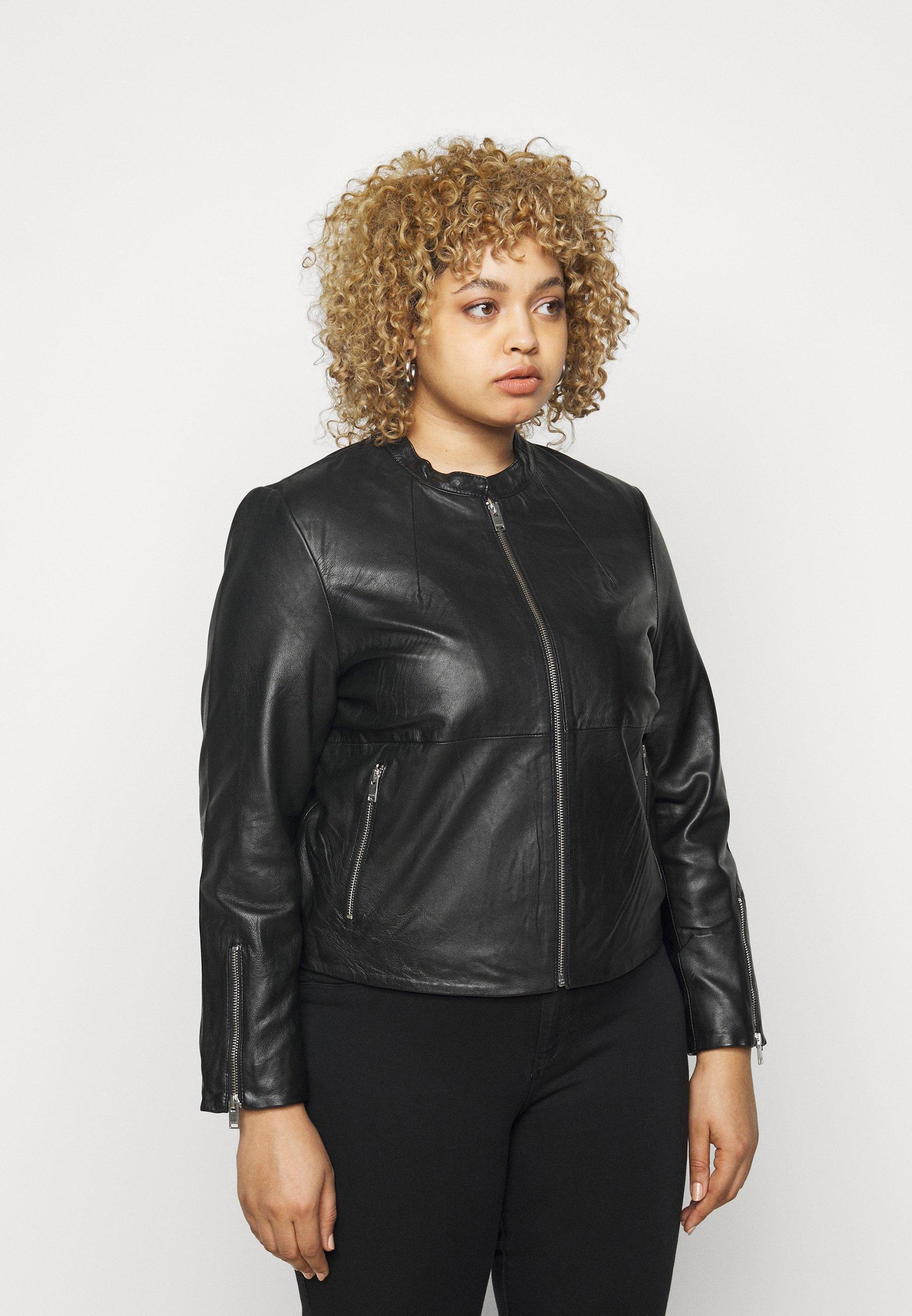 Femme SLFVIBI JACKET CURVE - Veste en cuir