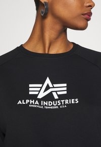 Alpha Industries - BOXY - Sweater - black - 5