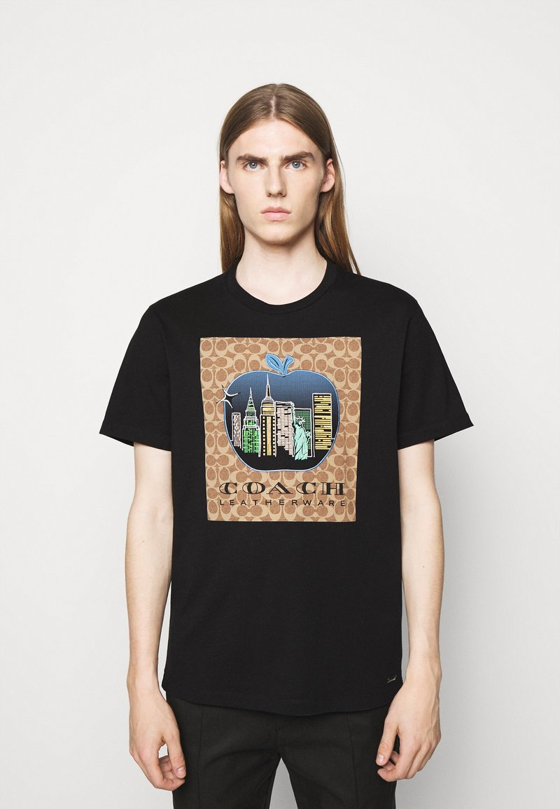 Coach - APPLE SIGNATURE  - Print T-shirt - black