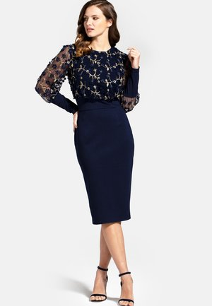EMBROIDERED EMMA - Cocktail dress / Party dress - navy