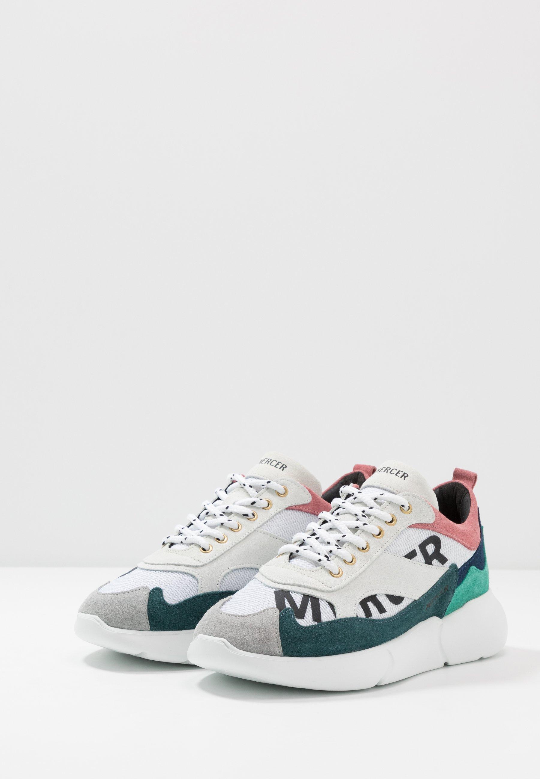 Mercer Amsterdam PRINTED - Sneaker low - green/weiß - Herrenschuhe VhVfx