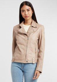 Gipsy - Leather jacket - ivo:ivory - 0
