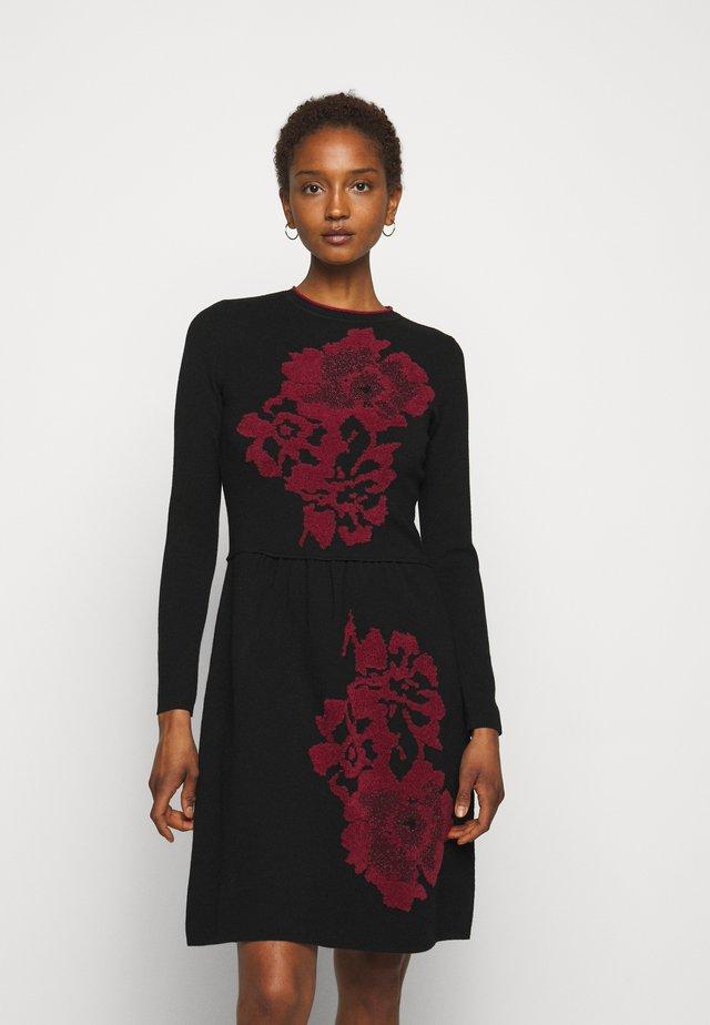 DIECI - Gebreide jurk - black
