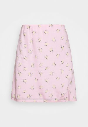 SOFT SLIT - Mini skirt - pink