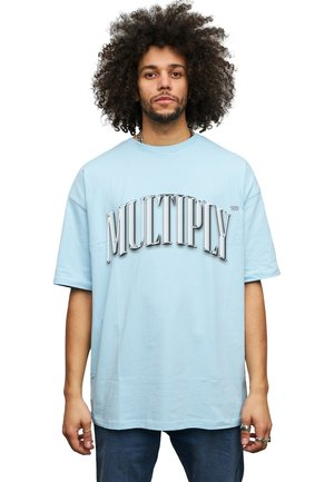 T-shirt med print - baby blue
