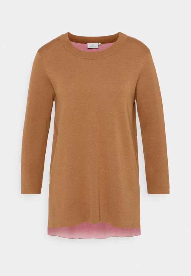 KABARBRO  - Sweter - thrush melange/candy pink