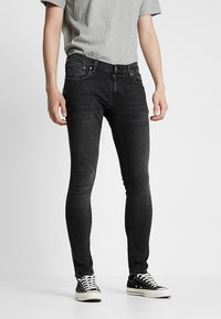 Nudie Jeans - TIGHT TERRY - Jeans Skinny Fit - black treats - 0