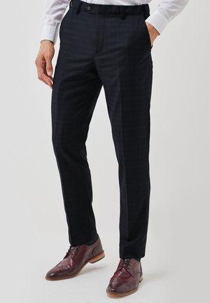 SLIM FIT - Pantaloni eleganti - dark blue