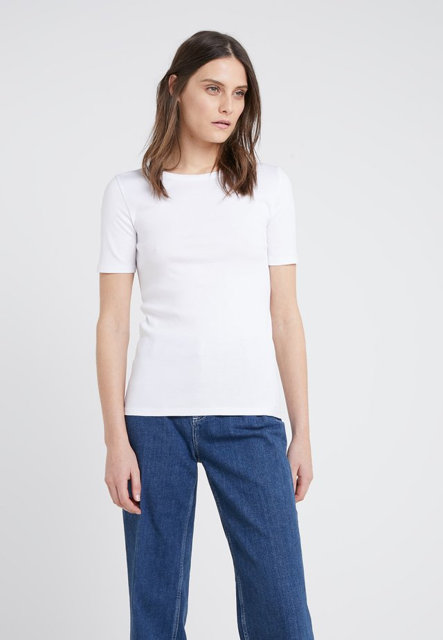 CREWNECK ELBOW SLEEVE - Basic T-shirt - white