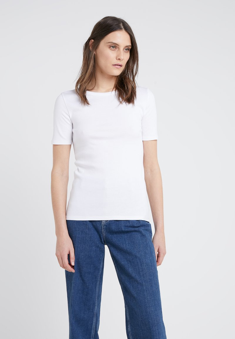 J.CREW - CREWNECK ELBOW SLEEVE - Basic T-shirt - white