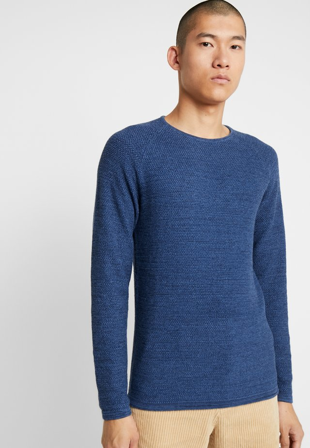 LAMP O-NECK - Jumper - blue melange