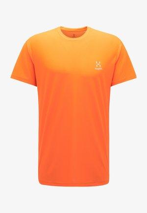 T-shirt med print - flame orange