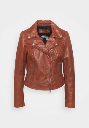 BALI - Leather jacket - brandy