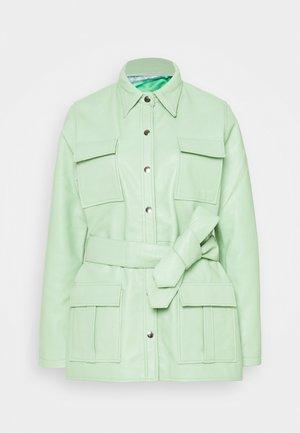 VALORA JACKET - Leather jacket - mint