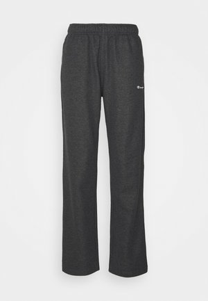STRAIGHT HEM PANTS - Jogginghose - mottled dark grey