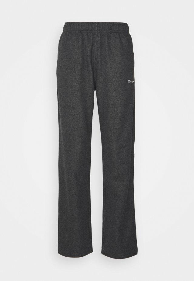 STRAIGHT HEM PANTS - Träningsbyxor - mottled dark grey