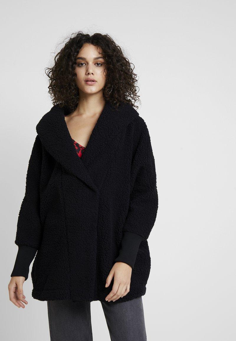 Noisy May - NMCUDDLE COATIGAN - Winter coat - black
