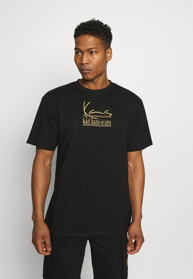 SIGNATURE TEE UNISEX  - Camiseta estampada - black
