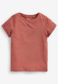 Next - 3 PACK - Basic T-shirt - white/burnt orange denim/grey - 2