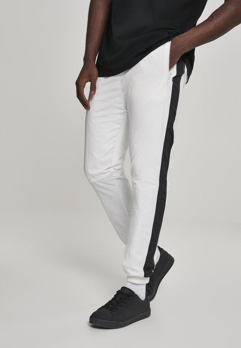 Urban Classics - Tracksuit bottoms - white, black