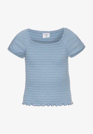 SMOCKED - T-shirts print - faded denim
