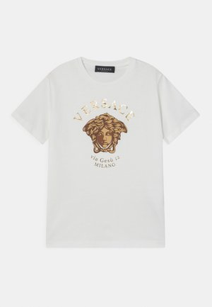 MEDUSA MILAN UNISEX - T-shirt print - white/gold