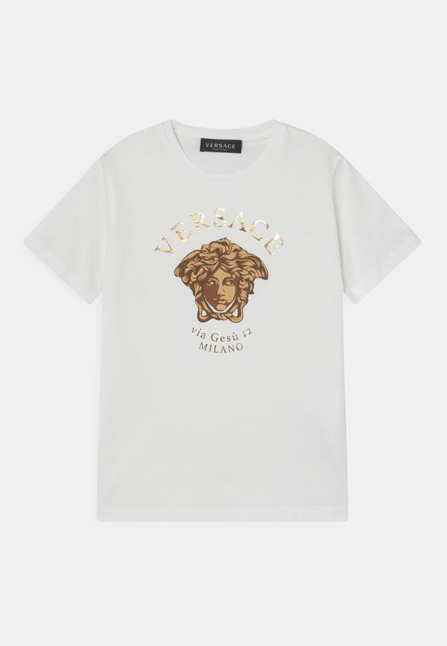 MEDUSA MILAN UNISEX - T-shirt con stampa - white/gold