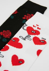 Lousy Livin Underwear - ROSE VALENTINES 2 PACK - Socks - black/white - 2