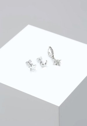 3 PACK - Earrings - silver-coloured
