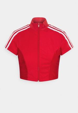 PAOLINA RUSSO ZIP COLLAB SPORTS INSPIRED SLIM CROPPED - Training jacket - scarlet