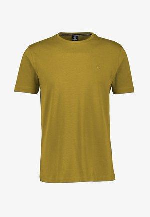 MIT RUNDHALSAUSSCHNITT  - Basic T-shirt - oily yellow