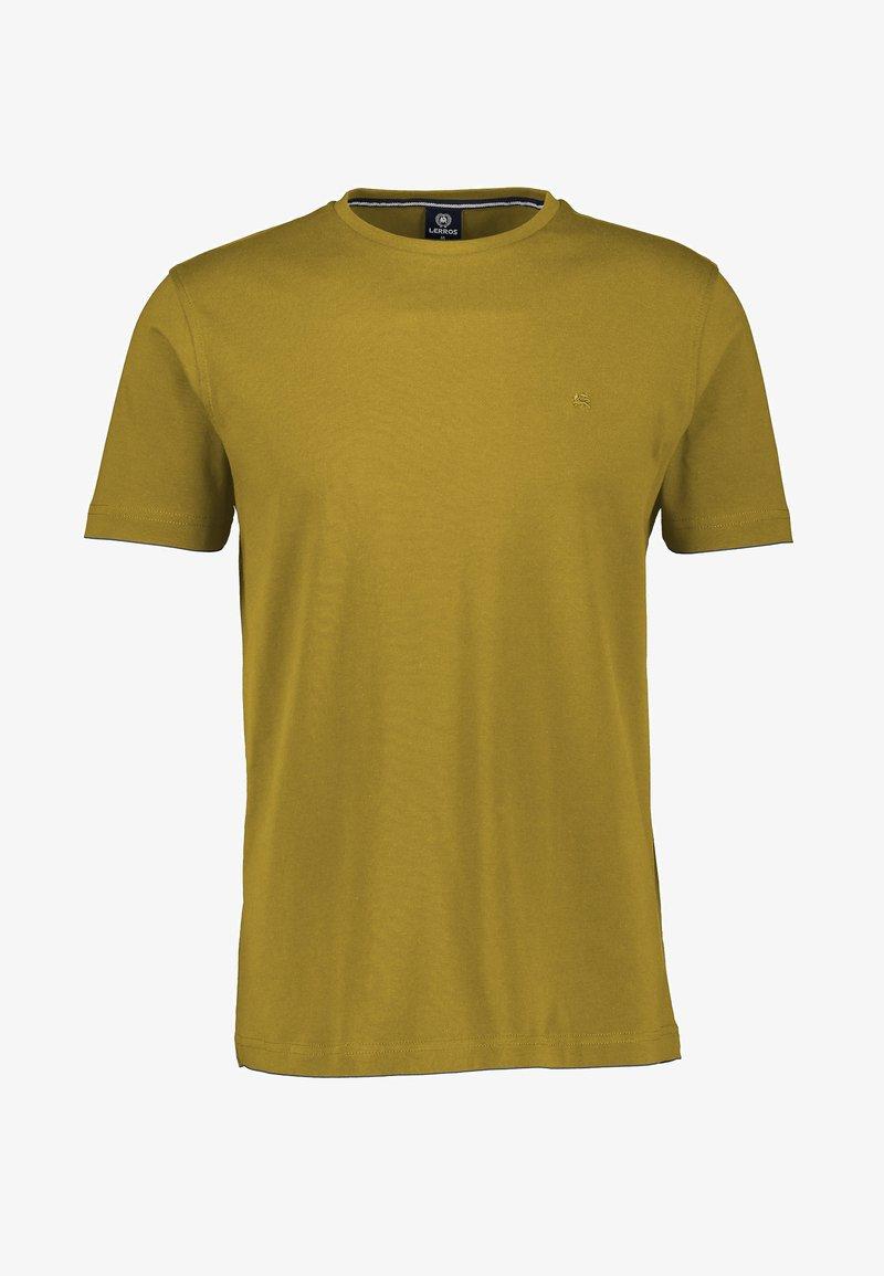 LERROS - MIT RUNDHALSAUSSCHNITT  - Basic T-shirt - oily yellow