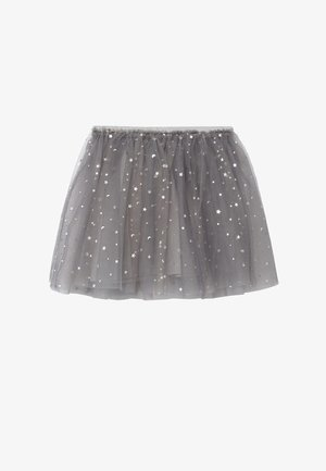 NIEVE - Pleated skirt - mediumgrijs