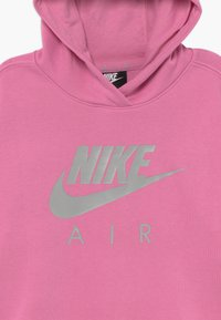 Nike Sportswear - NIKE AIR CROP HOODIE - Hoodie - magic flamingo/smoke grey - 3