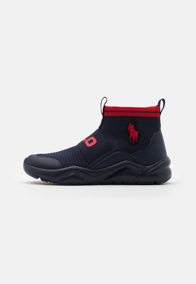 CHANING - Baskets montantes - navy/red