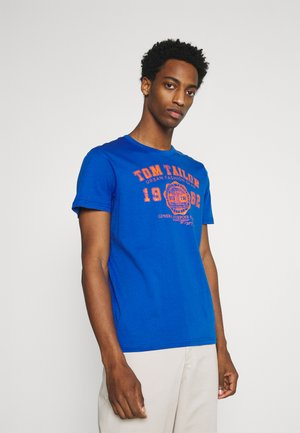 LOGO TEE - Print T-shirt - clearly blue