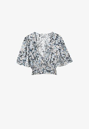 Blouse - mottled blue