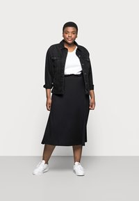 Even&Odd Curvy - A-line skirt - black - 1