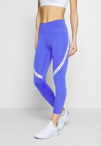 Nike Performance - ONE CROP - Tights - sapphire/white/black - 0