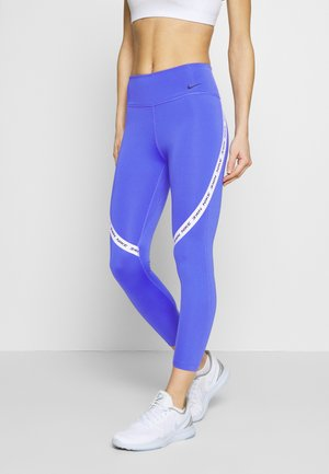 ONE CROP - Leggings - sapphire/white/black