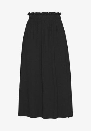 BASIC - Midi paperbag skirt - A-line skirt - black