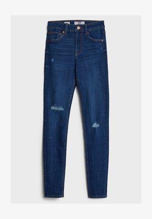 MIT HOHEM BUND  - Jeans Skinny - dark blue