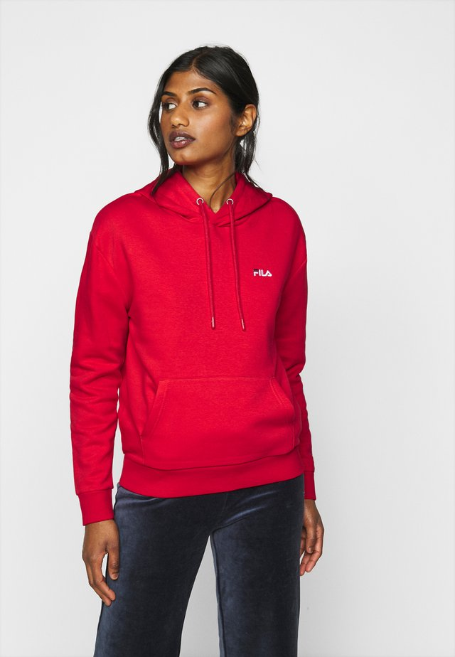 EBBA HOODY - Bluza z kapturem - true red