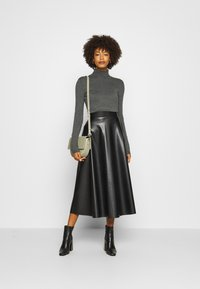 Anna Field - BASIC- TURTLE NECK - Svetr - dark grey - 1