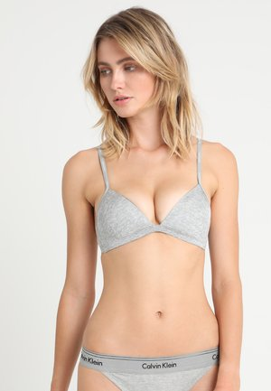 LIGHTLY LINED - Triangle bra - grey