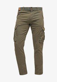 INDICODE JEANS - WILLIAM - Pantaloni cargo - army - 4