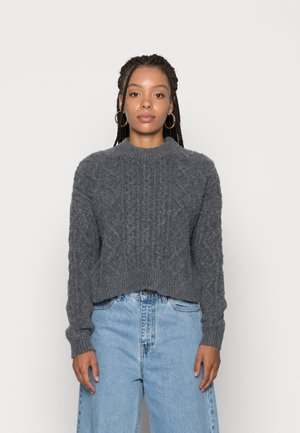 CABBIE CABLE - Sweter - grey