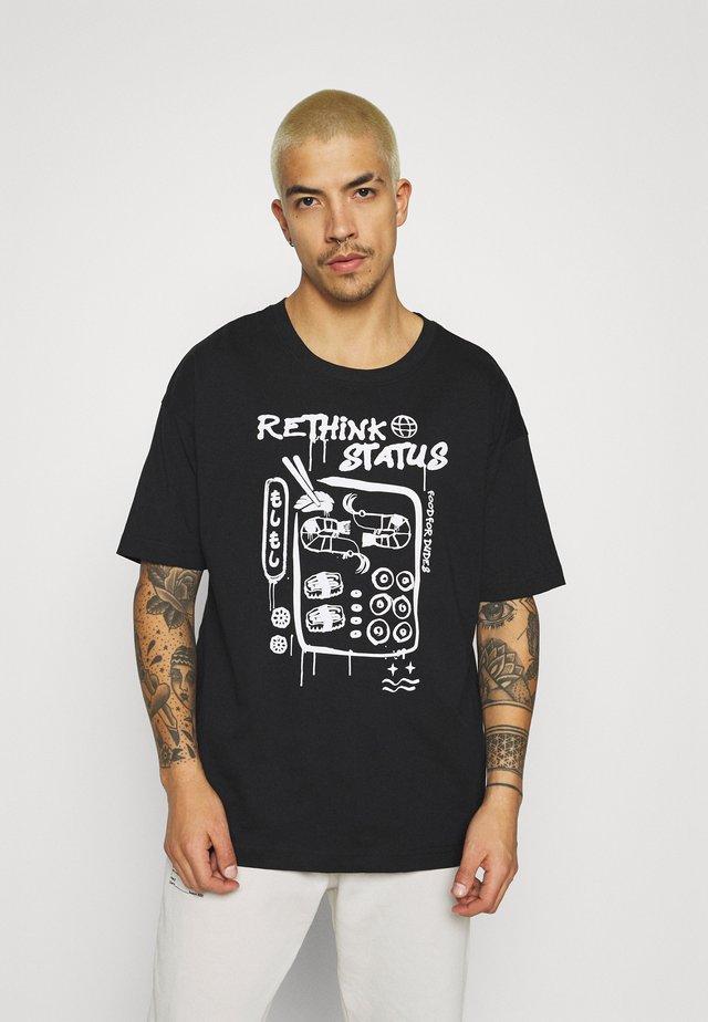 UNISEX OVERSIZED - T-shirt imprimé - black